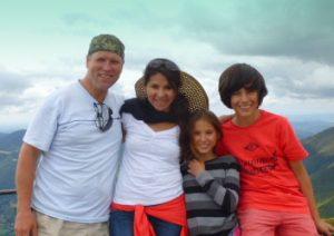Patricia met haar familie
